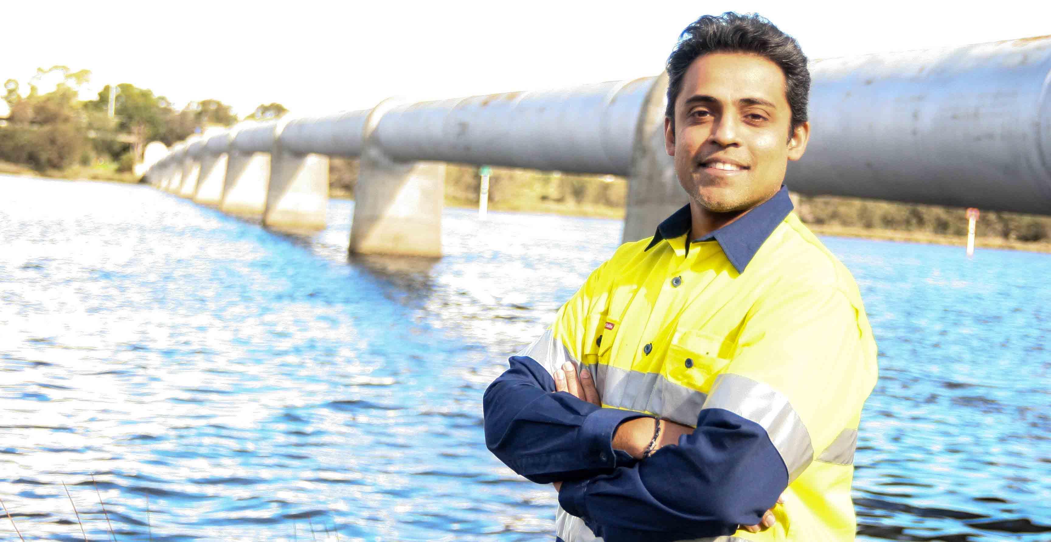CSIRO senior engineer Dr Rueben Rajasingam