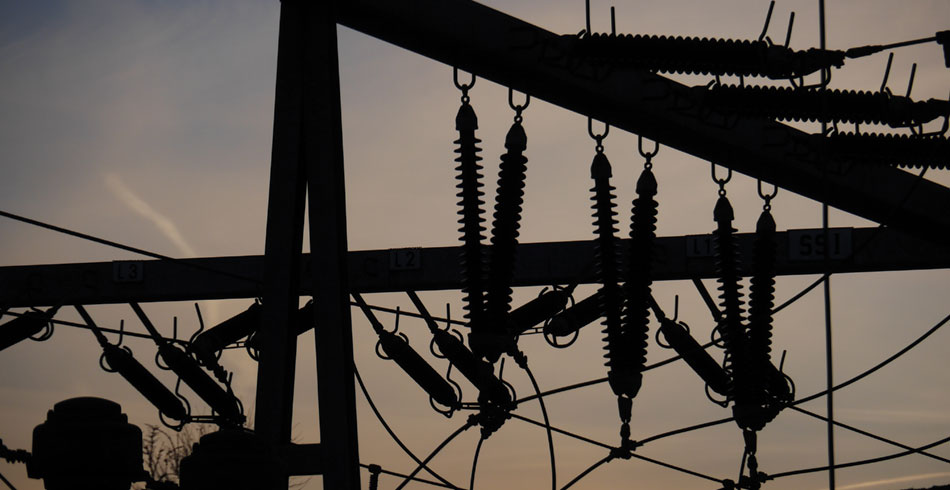 Darkened substation
